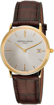 Frederique Constant Men's Classics Slimline Quartz Yellow Gold Date Watch