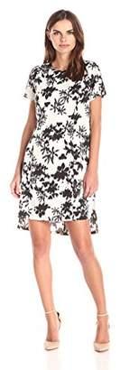 Lark & Ro Women's High-Low Hem Printed Shift Dress