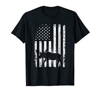 Moose American Flag T Shirt USA Patriotic Moose Gift
