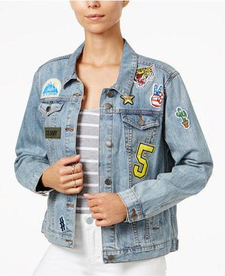 Velvet Heart Toni Cotton Patched Trucker Jacket $98 thestylecure.com