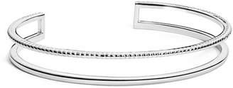Shinola Sterling Silver Coin Edge Cuff Bracelet