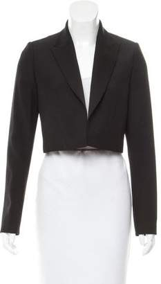 Pallas Satin-Trimmed Cropped Blazer w/ Tags