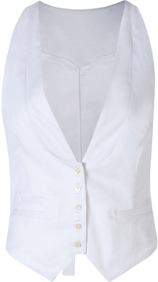By Malene Birger Pure White Monnia Waistcoat