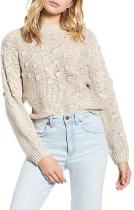 BP Bobble Stitch Mock Neck Sweater