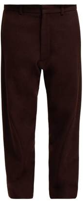 Raey Twist Seam Wool Trousers - Womens - Burgundy