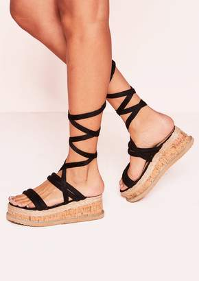 7e0b4b696f70 Missy Empire Missyempire Flossie Black Faux Suede Platform Sandals