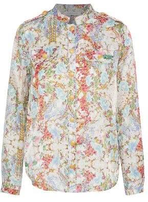 Pierre Balmain Button-Detailed Floral-Print Cotton And Silk-Blend Shirt