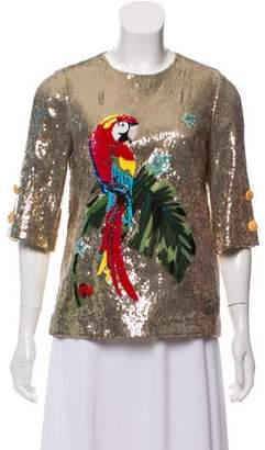 Dolce & Gabbana Sequin Embellished Blouse w/ Tags