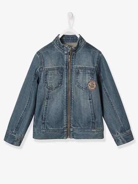 Boys' Denim Jacket - blue dark wasched