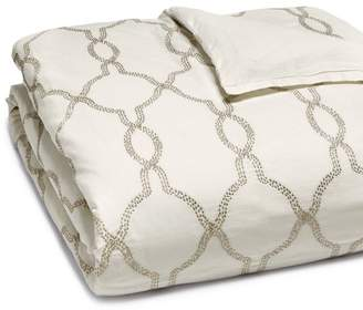 Hudson Park Collection Seed Stitch Trellis Duvet Cover, King - 100% Exclusive