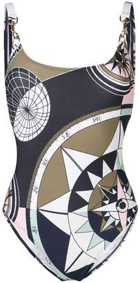 Tory Burch geometric print swimsuit