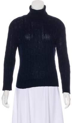 Ralph Lauren Black Label Cable Knit Turtleneck Sweater