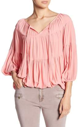 Young Fabulous & Broke YFB by Tiered Ruffle Bubble Blouse