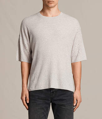 AllSaints Jace Short Sleeve Crew Sweater