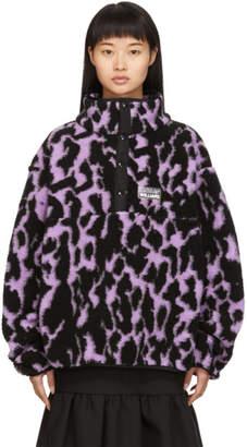 JuJu Ashley Williams Purple Fleece Pullover
