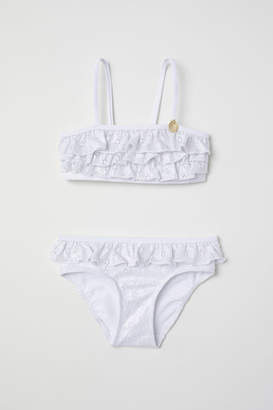 H&M Ruffled Bikini - White