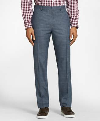 Brooks Brothers Windowpane Wool Twill Suit Trousers