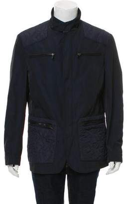 Etro Leather-Trimmed Zip-Front Jacket