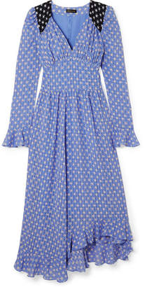 Stine Goya Freesia Ruffled Printed Voile Midi Dress - Blue