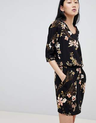 B.young Floral Cowl Neck Dress