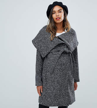 Mama Licious Mama.Licious Mamalicious Wool Wrap Coat