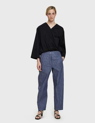 Lemaire Twisted Pant in Blue