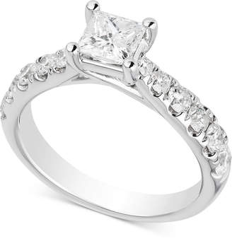 Macy's Diamond Princess Engagement Ring (1-1/2 ct. t.w.) in 14k White Gold
