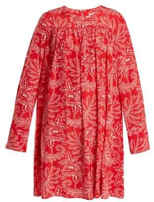 Diane von Furstenberg Ullman Floral Print Silk Crepe De Chine Dress - Womens - Pink Print