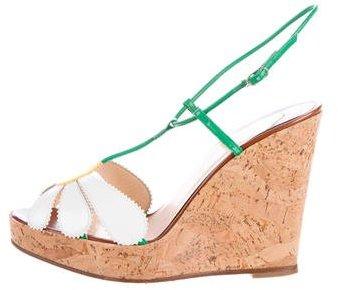 Christian Louboutin Christian Louboutin T-Strap Wedge Sandals
