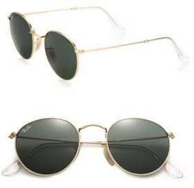 Ray-Ban 50MM Round Sunglasses $150 thestylecure.com