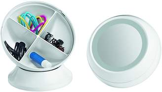 Conair Round Shaped Single-Sided Lighted Makeup Mirror; 3x magnification; White