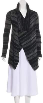 360 Cashmere Stripe Drape Cardigan