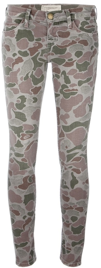 Current/Elliott 'The Ankle Skinny' camouflage trouser