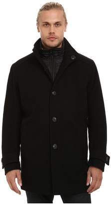 Andrew Marc Morningside Pressed Wool Car Coat w/ Removable Quilted Bib Men's Coat