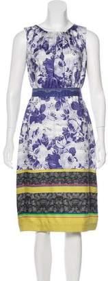 Peter Som Silk Floral Print Dress