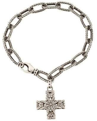 John Hardy Diamond Cross Charm Bracelet