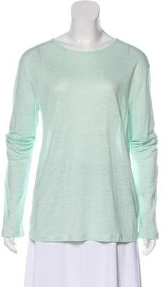 Alexander Wang Long Sleeve Linen Blouse
