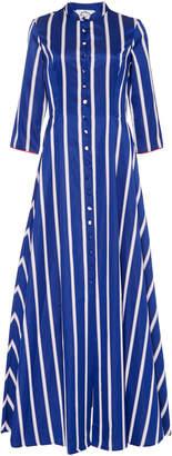 Evi Grintela Carine Striped Cotton Maxi Shirt Dress