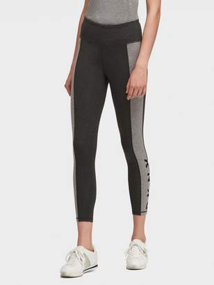 DKNY Colorblock High-Waisted Cropped Logo Legging