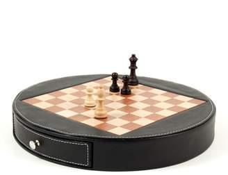 Bey-Berk Bey Berk Wood & Leather Chess Set