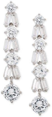 Giani Bernini Cubic Zirconia Linear Drop Earrings in Sterling Silver