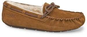 UGG Dakota Suede Shearling-Lined Slippers