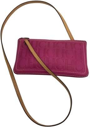 Carolina Herrera Pink Suede Handbags