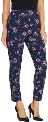 Joan Rivers Classics Collection Joan Rivers Regular Length Signature Printed Pull-On Ankle Pants