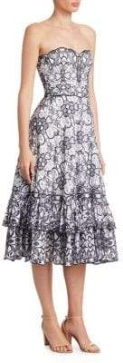 Jonathan Simkhai Embroidered Scalloped Dress