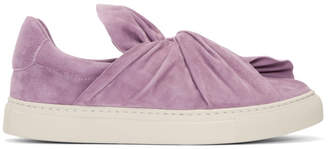 Ports 1961 Purple Suede Bow Slip-On Sneakers