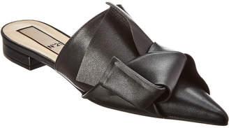 N°21 N 21 N21 Bow Pointed Leather Mule