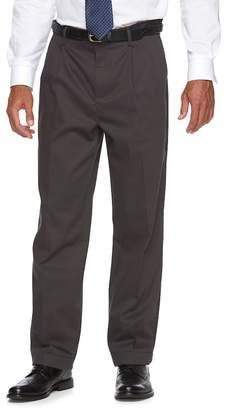 Croft & Barrow Men's Classic-Fit No-Iron Performance Khaki Pleated Casual Cuffed Pants