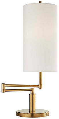 Visual Comfort & Co. Anton Large Swing-Arm Table Lamp - Antiqued Brass