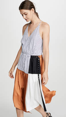 Tibi Wrap Slip Dress
